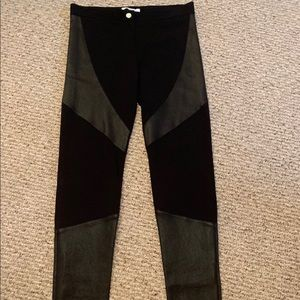 Givenchy Leather Panel Stretch Knit Leggings US 8